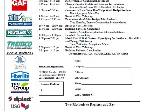 November 11th IIBEC                                        Florida Educational Program – 5 IIBEC CEH Credits